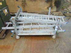 6 x Rear Access Aluminium Ladders as shown
