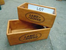 Set of 2 Land Rover Wooden Storage Boxes new unused
