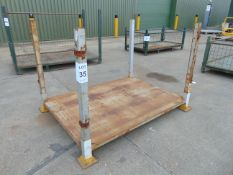 You are bidding for Heavy Duty Metal Stackable Stillage / Post Pallet. Dimensions L 1.8 x W 1.3 x