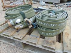 4 x Unissued Angus Super Aquaduct Lay Flat Hoses 9.1m x 45mm as Shown