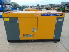 UNISSUED 40 KVA 3 Phase Silent Diesel Generator Set. This generator is 3 phase 230/400 volt 50 Hz