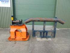 Allied Ho-Pac 1600 Vibratory Plate Compacter Driver & Bullhorn Excavator Attachment