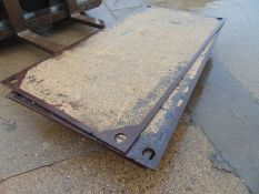 "6 x Steel Road Plates (8FT X 4FT) 3/4"" Metal Trench Hole Covers"