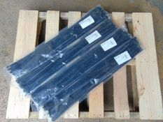 200 x UNISSUED Extra Long 75cm Cable Ties / Zip Wraps