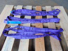 3 x Unissued Miller Weblift 1 Ton Round Slings