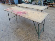 2 x Standard British Army 6 ft Folding Tables