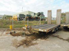 King DT99 18 Tonne Draw Bar Plant Trailer 13,500 Kms only Direct UK MOD.
