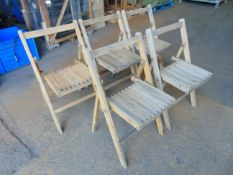 5 x British Army Wooden Folding Camp Chairs