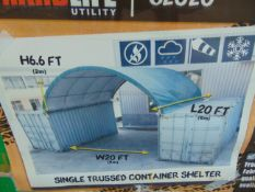 """Container Shelter 20'W x 20'L x 6'6"""" H P/No C2020"""