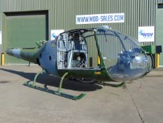 Gazelle AH 1 Turbine Helicopter Airframe (TAIL NUMBER XZ303)