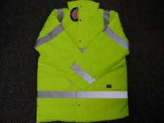 UNISSUED Hi Visibility Florescent Jacket. Size Large.