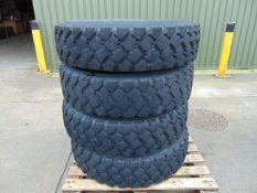 4 x Michelin 12.00 R20 XZL Tyres on 8 Stud Rims
