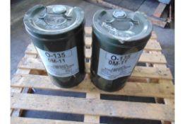 Qty 2 x 25 Ltr O-135/OM-11 Oil
