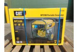 UNISSUED Caterpillar RP3100 industrial Petrol Generator.