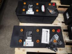 2 x Unissued 354-3614 Dry Charge 12v 190A.H. Batteries