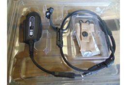 4 x Clansman Racal Frontier Headsets / Communication System