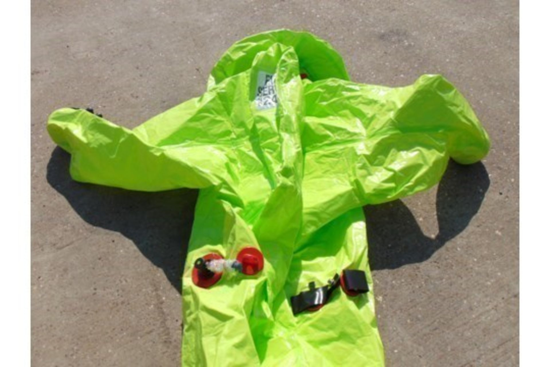Lot 348 - 1 x Unissued Respirex Tychem TK Gas-Tight Hazmat Suit Type 1A with Attached Boots and Gloves. Medium