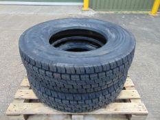 2 x Continental Regional Traffic HDR 11 R 22.5 Tyres