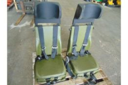 Qty 2 x Unissued Vehicle Operators Seats with Harness