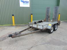 Indespension Twin Axle Galvanised Plant Trailer C/W Rear Ramps