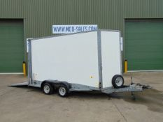 Twin Axle Ifor Williams BV126G/DR Box Trailer c/w Dropdown Tailgate / Loading Ramp