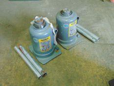 2 x Weber 10t Hydraulic Bottle Jacks