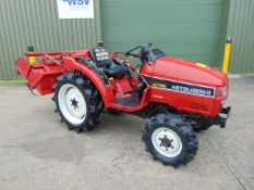 Mitsubishi MT185 Compact Tractor with Rotovator ONLY 1,307 HOURS!!!