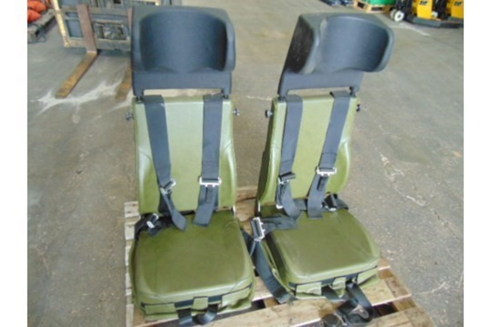 Lot 373 - Qty 2 x Unissued Vehicle Operators Seats with Harness