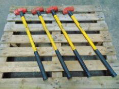 4 x Stower 6lb Sledge Hammers