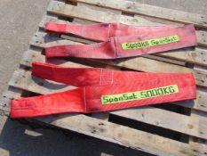 Qty 2 x Spanset 5000Kg 3 Metre Lifting Slings