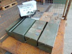 Stillage Of Mixed Tool Boxes And Ammo Tins.