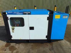 UNISSUED 30 KVA 3 Phase Silent Diesel Generator Set. This generator is 3 phase 230/400 volt 50 Hz
