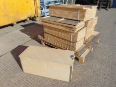 40 x Unissued Collapsible Plywood Shipping Crates/Packing Boxes