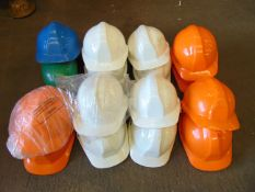 16 x Safety Helmets Various Colours.