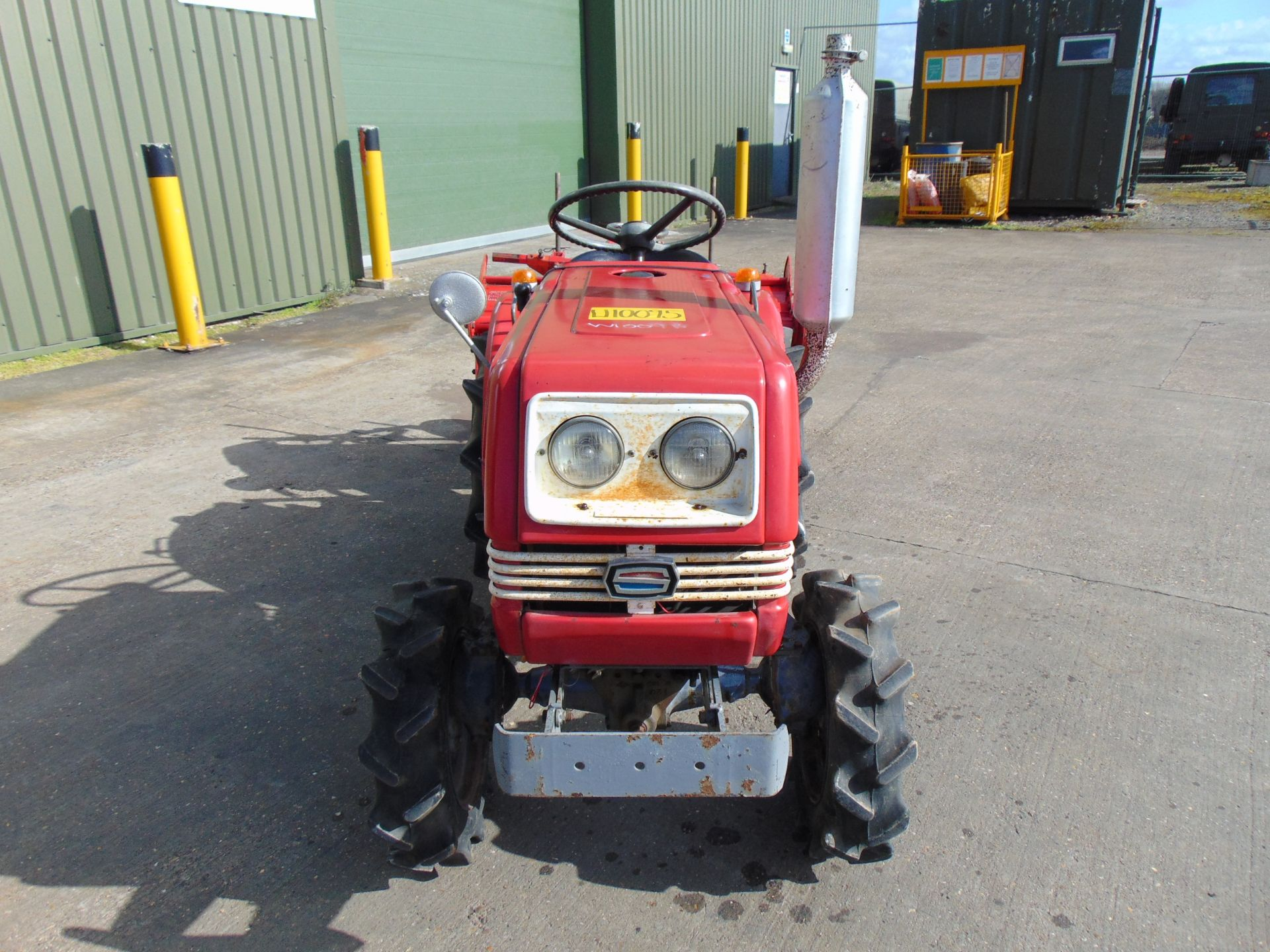 Lot 347 - Shibaura SU1341 4WD Compact Tractor c/w Rotovator ONLY 660 HOURS!!!
