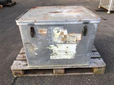 Aluminium storage box.