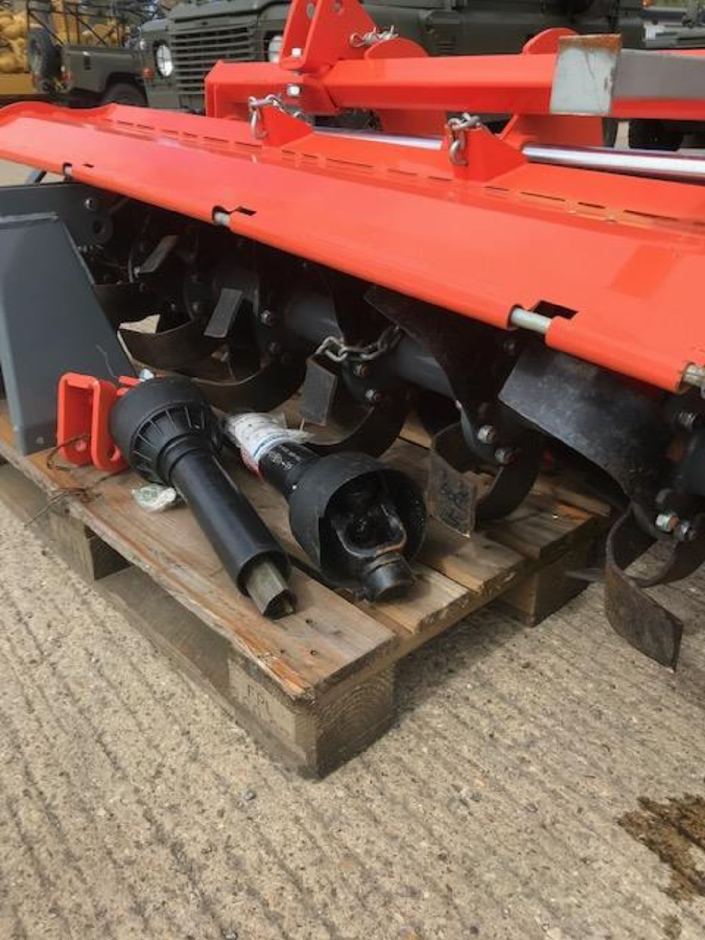 Lot 273 - 2019 Tractor Mounted Rotavator with Hydraulic Side shift. Unused