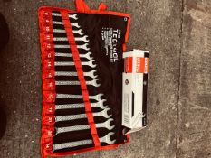 NEW UNISSUED TECTOOL 14 PCS SPANNER SET