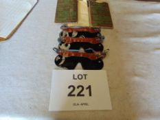 2 x Packs ( 6 total ) Unissued WW2 Anti Gas Eye Shields Tinted in original pouches