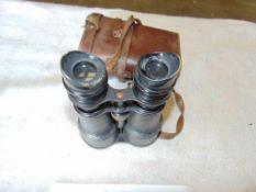 Military Binoculars in Leather case