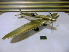 WWII Supermarine Spitfire Aluminium Detailed Scale Model