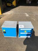 2 x Metal Workshop Cabinets