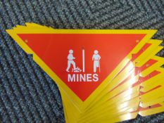 10 x Battlefield Mine Warning Signs