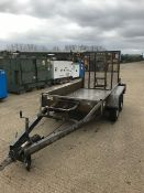 GALVANISED 2600 KGS TWIN AXLE MINI DIGGER/PLANT TRAILER