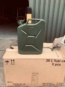 2017 NEW AND UNISSUED QUANTITY 5 20 LITRE JERRY CANS