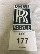Unissued Rolls Royce Cast Aluminium Sign