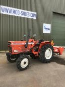 HINOMOTO E2804 Compact 4 x 4 Tractor 234 Hours Only with Rotavator