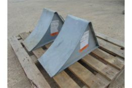2 x Large Heavy Duty Steel Wheel Chocks