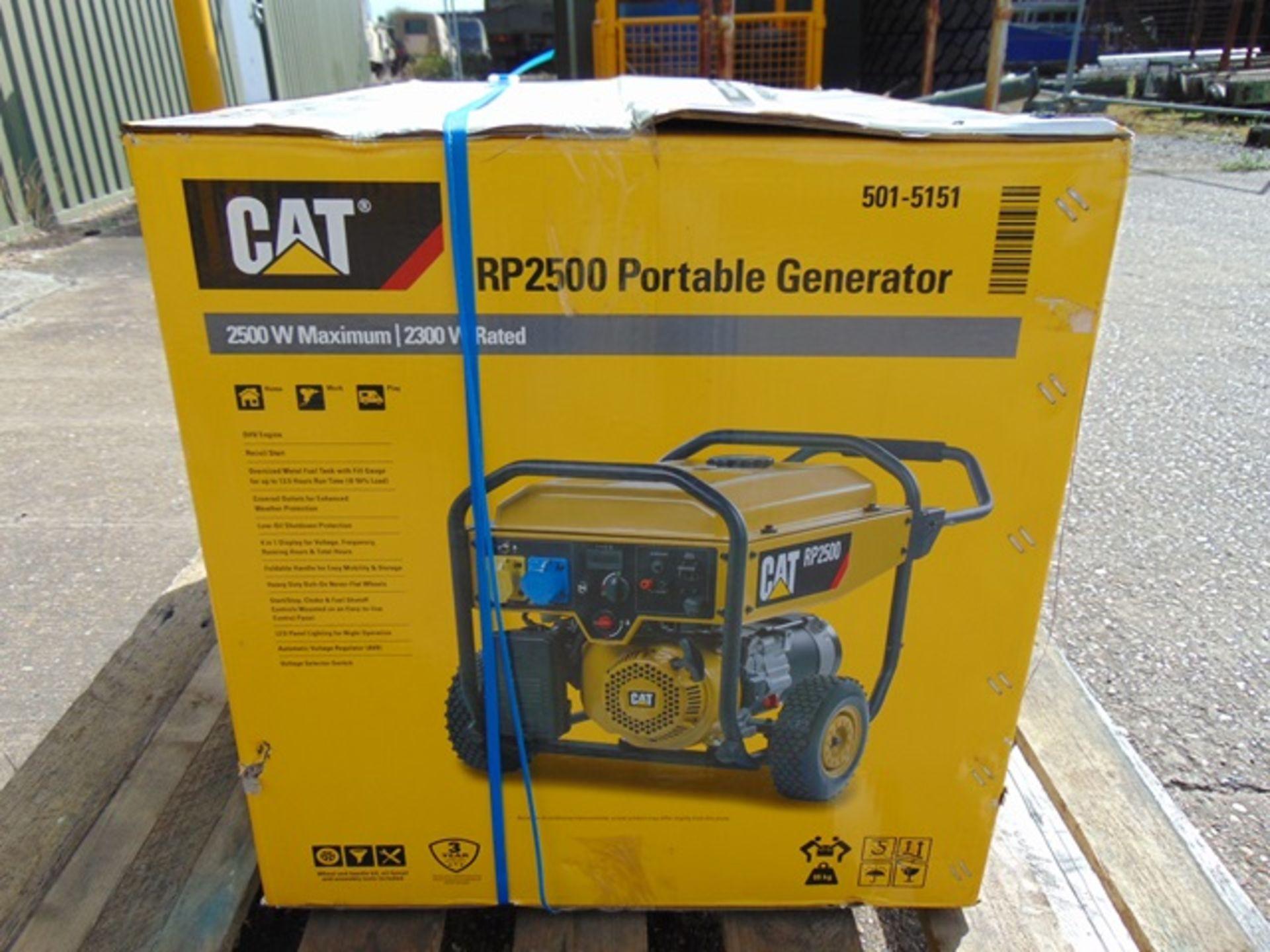 Lot 5 - UNISSUED Caterpillar RP2500 Industrial Petrol Generator Set
