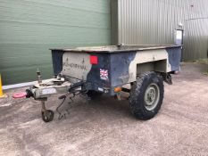 Universal Engineering Sankey Style 3/4 ton wide track trailer with drop-down tailgate